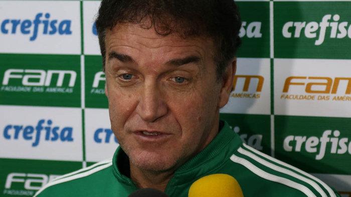 Cuca concedeu entrevista coletiva após o treino desta sexta-feira (18). (Cesar Greco/Ag.Palmeiras/Divulgação)