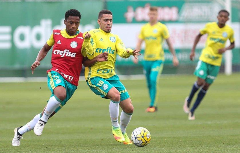 Gabriel entrou no jogo de domingo (20) e treinou com bola nesta terça (22). (Cesar Greco/Ag.Palmeiras/Divulgação)