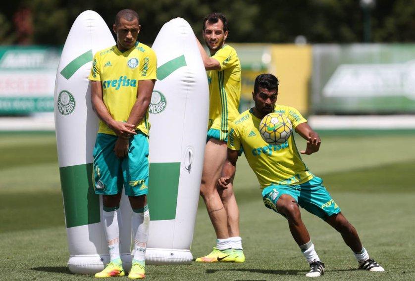 O Verdão treinou na manhã desta quarta-feira (02), na Academia de Futebol. (Cesar Greco/Ag.Palmeiras/Divulgação)