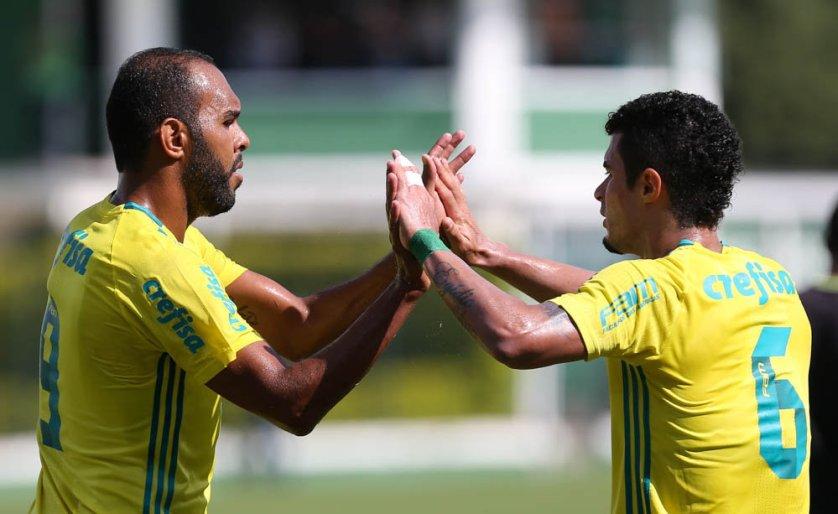 Alecsandro marcou o gol da vitória nesta segunda (30). (Cesar Greco/Ag Palmeiras/Divulgação)
