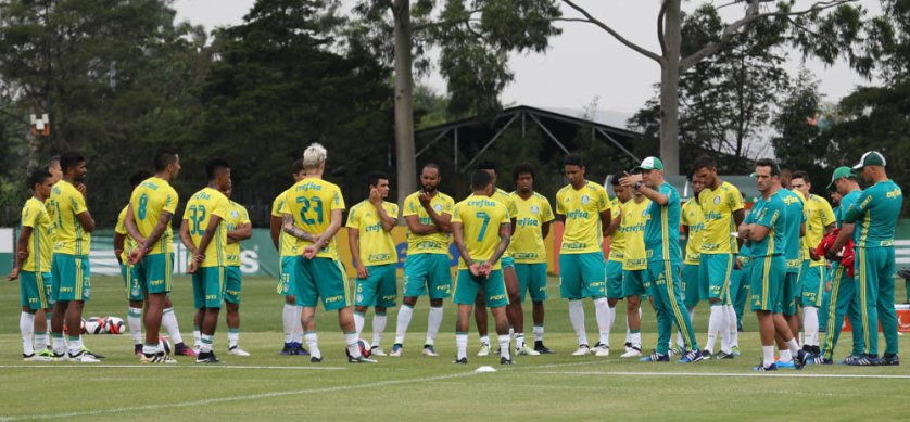 Elenco palmeirense segue em preparação para a temporada 2017. (Cesar Greco/Ag.Palmeiras/Divulgação)
