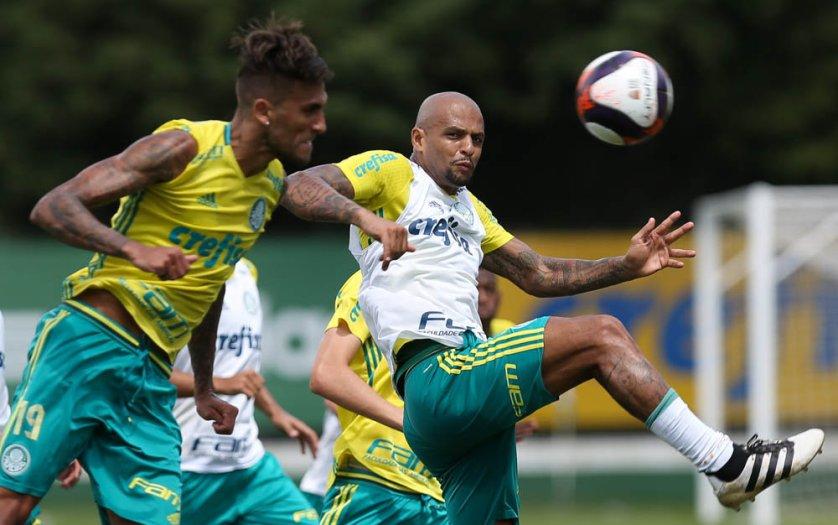 Verdão trabalhou pela manhã e à tarde nesta terça-feira (24). (Cesar Greco/Ag.Palmeiras/Divulgação)