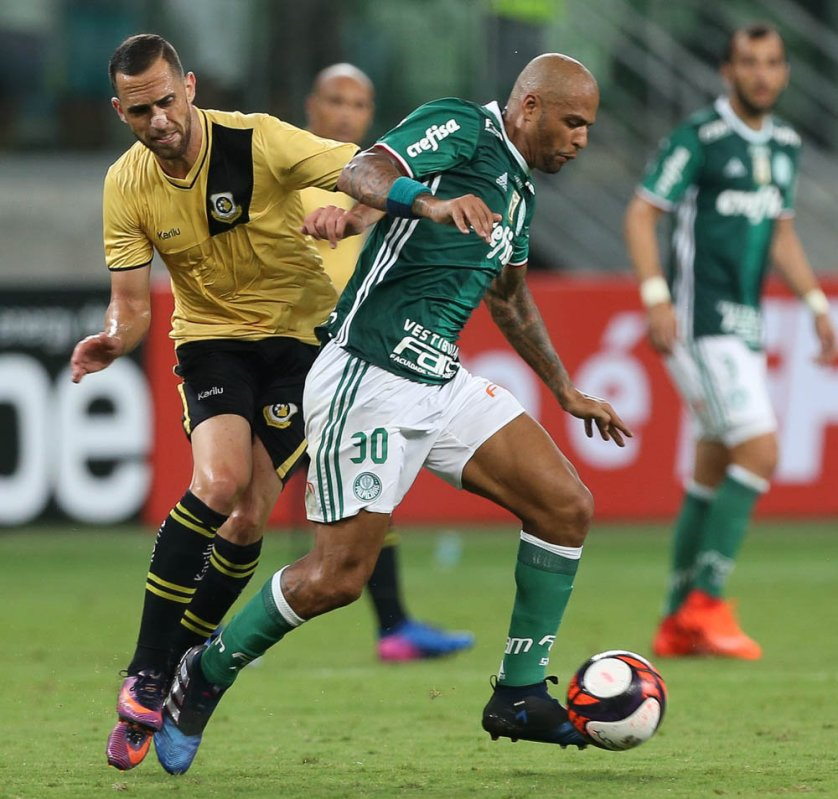 'Estamos em uma crescente', disse Felipe Melo após a vitória diante do São Bernardo. (Cesar Greco/Ag Palmeiras/Divulgação)
