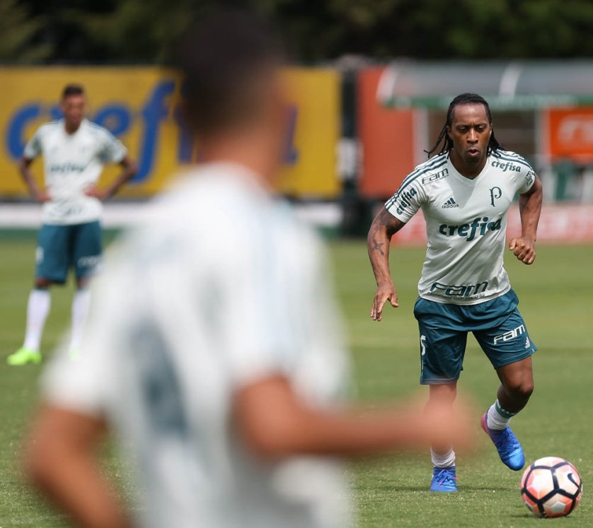 Arouca treinou com o elenco na tarde desta quinta (16) . (Cesar Greco/Ag. Palmeiras/Divulgação)