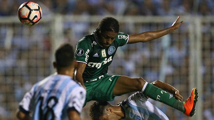 Keno marcou o único gol do Verdão no jogo. (Cesar Greco/Ag.Palmeiras/Divulgação)