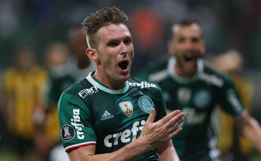 Fabiano marcou seu segundo gol pelo Verdão. (Cesar Greco/Ag. Palmeiras/Divulgação)