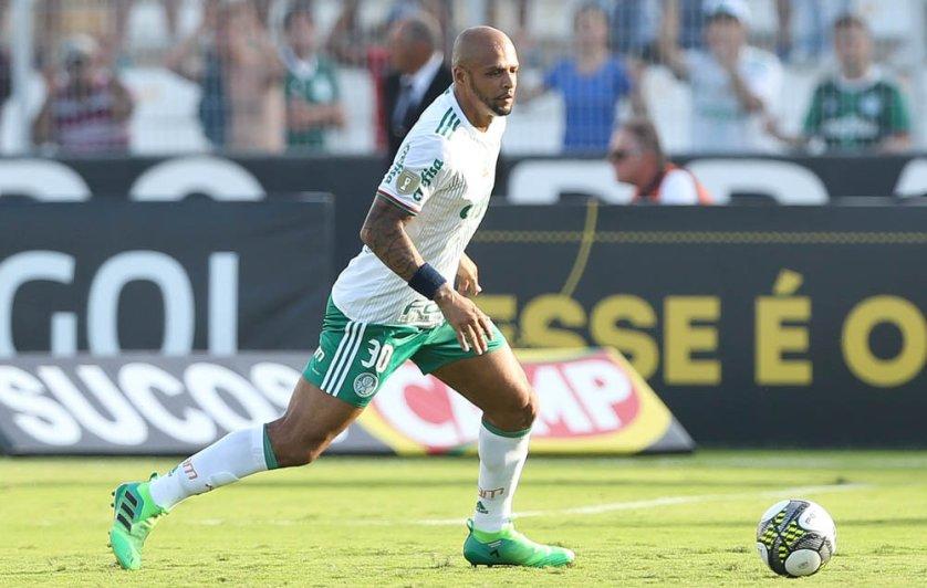Após deslize, Felipe Melo acredita na força do grupo para virada. (Cesar Greco/Ag. Palmeiras/Divulgação)