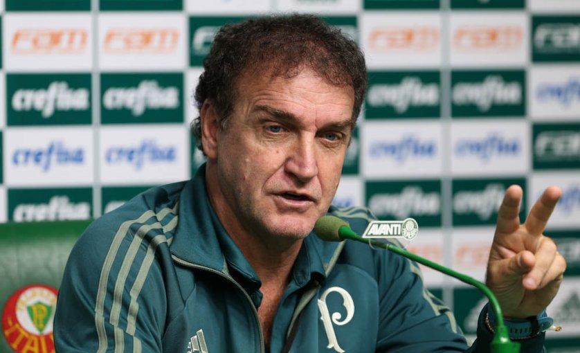 O técnico Cuca destacou a força da Ponte como mandante e pediu inteligência para conseguir um bom resultado. (Cesar Greco/Ag Palmeiras/Divulgação)
