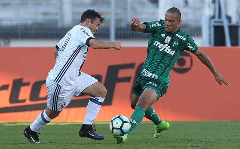 Contra a Ponte, o volante Gabriel Furtado realizou a sua estreia com a camisa do Palmeiras. (Cesar Greco/Ag Palmeiras/Divulgação)