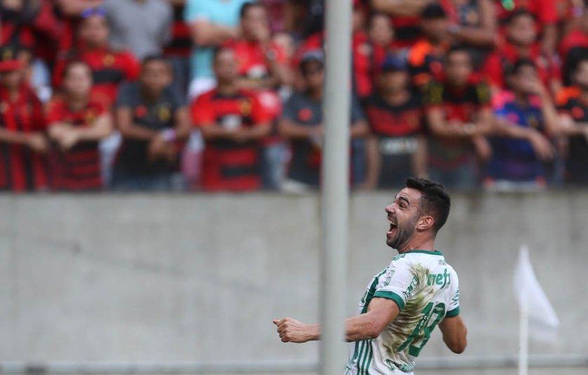 Contra o Sport, Bruno Henrique marcou seu primeiro gol com a camisa do Palmeiras. (Cesar Greco/Ag Palmeiras/Divulgação)