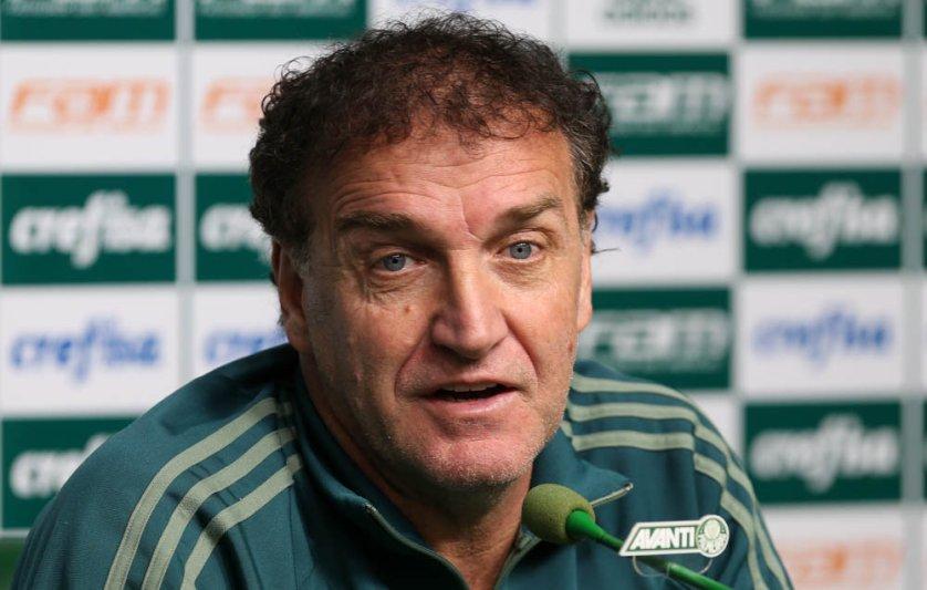 O treinador palmeirense concedeu entrevista coletiva na Academia de Futebol nesta sexta-feira (28). (Cesar Greco/Ag. Palmeiras/Divulgação)