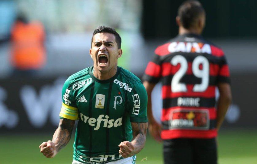 Dudu é um dos artilheiros do Verdão na temporada. (Cesar Greco/Ag. Palmeiras/Divulgação)