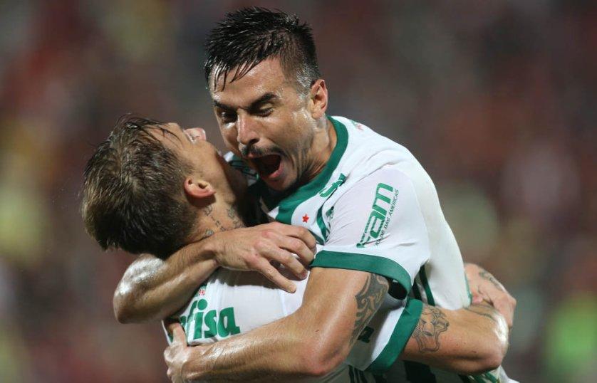 Willian e Róger Guedes marcaram os gols do Verdão contra o Flamengo. (Cesar Greco/Ag Palmeiras/Divulgação)