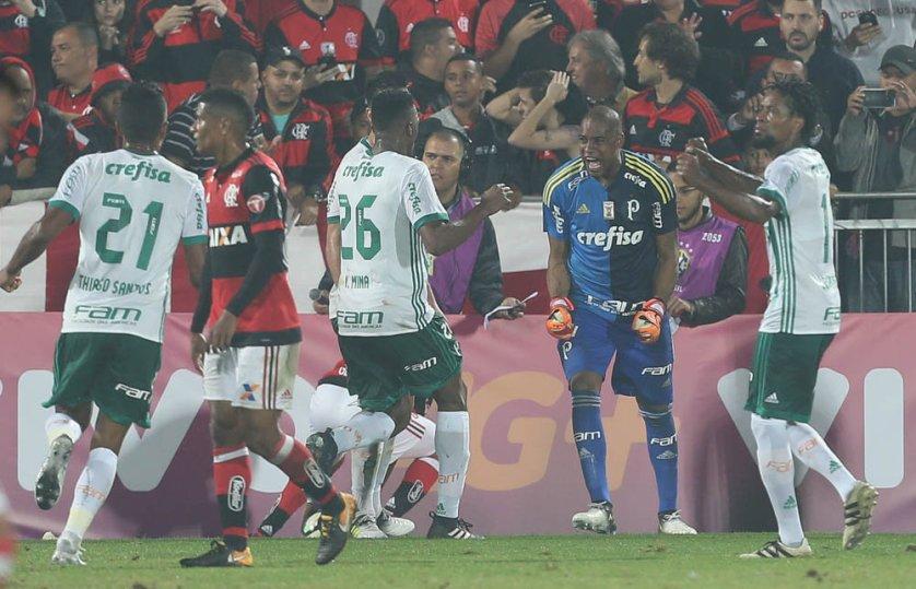 Jailson fez defesas difíceis no empate contra o Flamengo. (Cesar Greco/Ag Palmeiras/Divulgação)