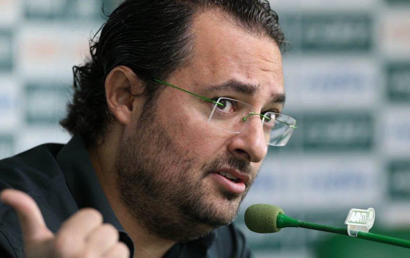 Nesta sexta-feira (14), Alexandre Mattos concedeu entrevista coletiva na Academia de Futebol. (Cesar Greco/Ag Palmeiras/Divulgação)