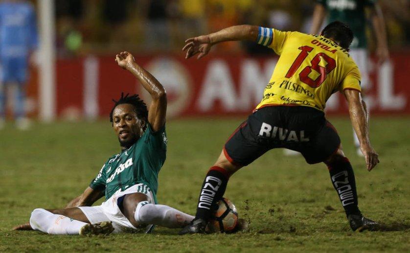 Zé foi substituído no segundo tempo da partida contra o Barcelona. (Cesar Greco/Ag. Palmeiras/Divulgação)