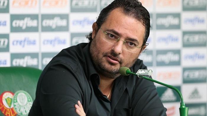 Alexandre Mattos, falou com a imprensa na manhã desta terça-feira (01), na Academia de Futebol. (Cesar Greco/Ag. Palmeiras/Divulgação)