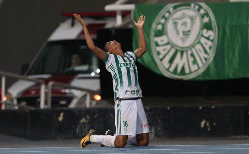 Contra o Botafogo, o atacante Deyverson marcou seu segundo gol pelo Palmeiras. (Cesar Greco/Ag. Palmeiras/Divulgação)