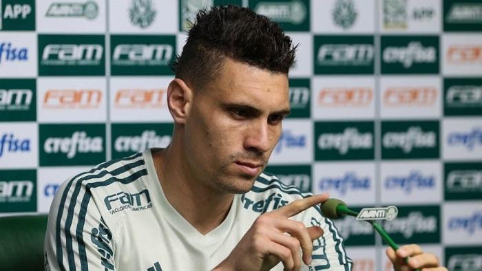 Moisés analisou seus momentos no retorno ao time após lesão. (Cesar Greco/Ag Palmeiras/Divulgação)