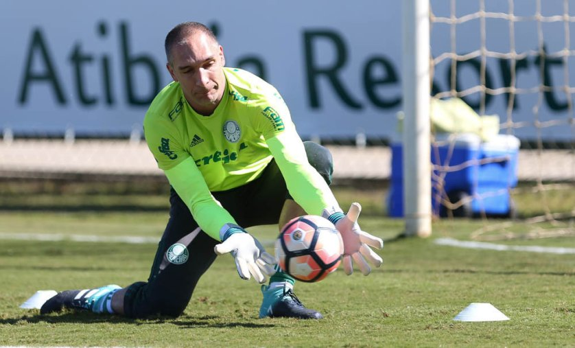 Caso Jailson não jogue no domingo (13), Prass deve voltar à meta alviverde. (Cesar Greco/Ag. Palmeiras/Divulgação)