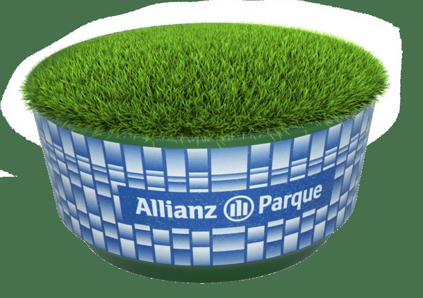 Torcedores poderão levar para casa um pedaço do gramado do Allianz Parque. (Divulgação)