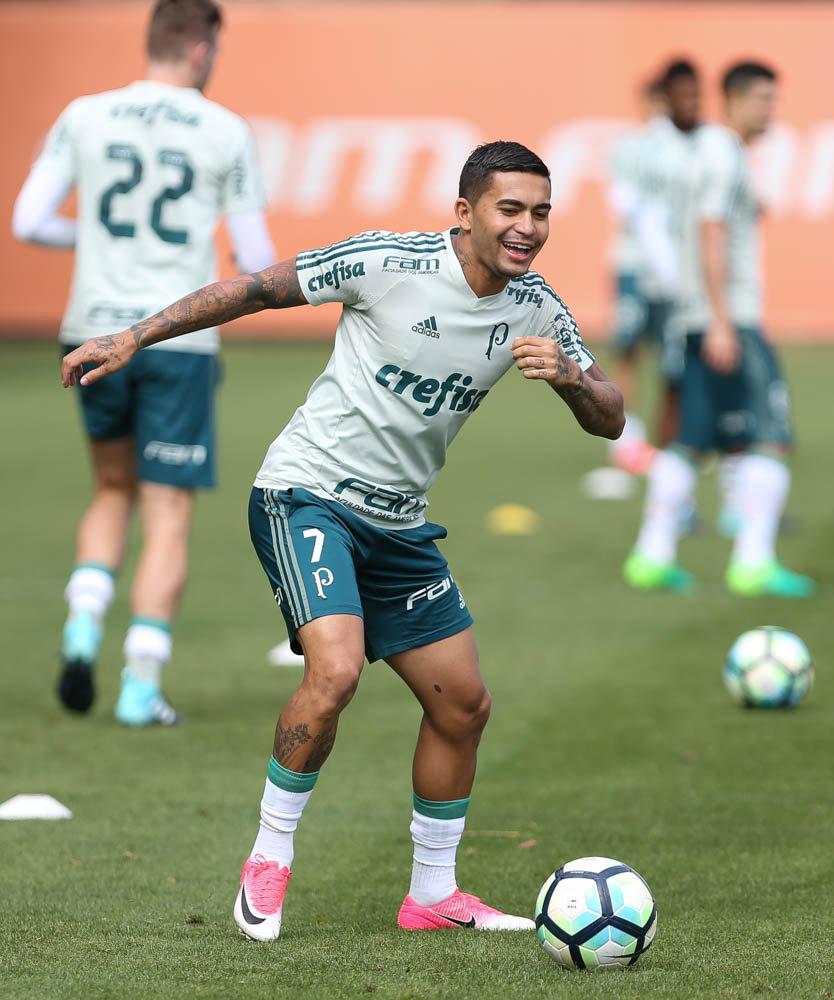 Dudu pode ser a novidade palestrina no final de semana. (Cesar Greco/Ag Palmeiras/Divulgação)