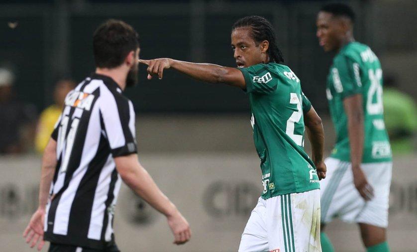 Keno deu assistência e marcou belo gol contra o Botafogo. (Cesar Greco/Ag Palmeiras/Divulgação)