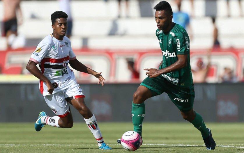 Borja marcou o gol que deu os três pontos ao Palmeiras no jogo em que vestiu a camisa do Verdão pela 45ª vez. (Cesar Greco/Ag Palmeiras/Divulgação)