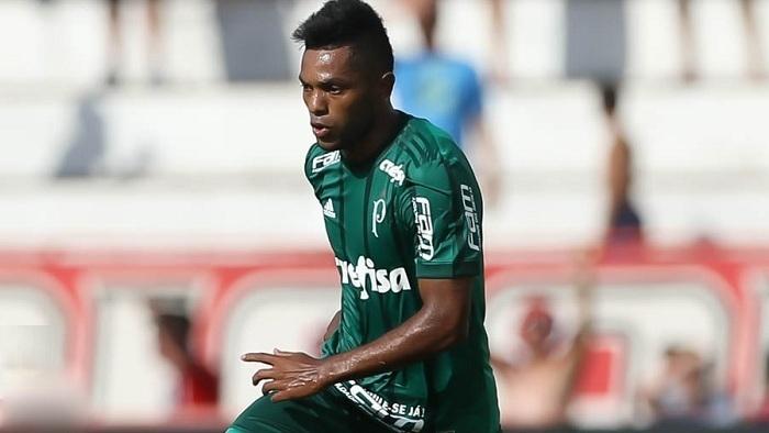 Borja marcou o gol da vitória do Palmeiras. (Cesar Greco/Ag Palmeiras/Divulgação)