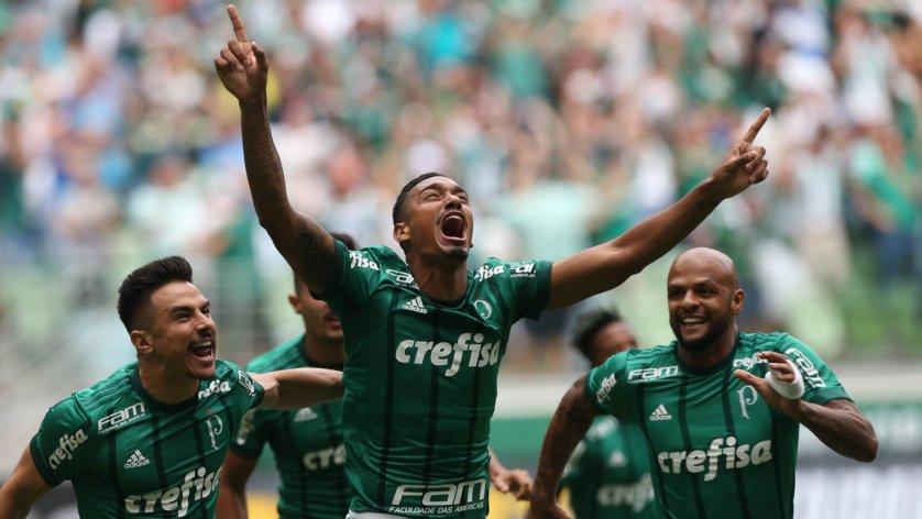 Antônio Carlos marcou seu primeiro gol com a camisa do Palmeiras. (Cesar Greco/Ag Palmeiras/Divulgação)