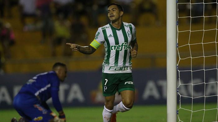 No Palmeiras desde 2015, Dudu alcançou mais uma marca importante com a camisa alviverde. (Cesar Greco/Ag. Palmeiras/Divulgação)