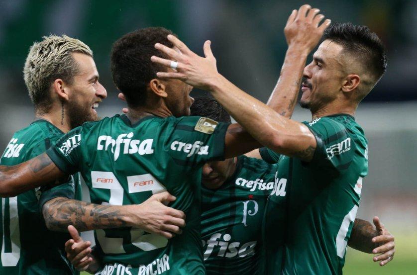 Verdão goleou o adversário por 5 a 0 e consumou sua participação na próxima fase do Paulistão. (Cesar Greco/Ag. Palmeiras/Divulgação)