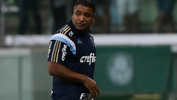 Roger Machado falou com a imprensa após o jogo. (Cesar Greco/Ag Palmeiras/Divulgação)