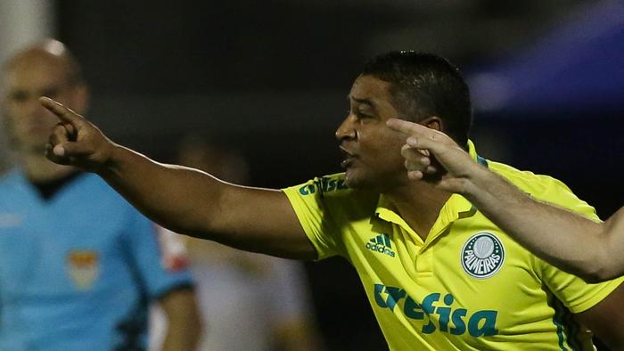 O comandante palmeirense destacou a eficiência da defesa palestrina. (Cesar Greco/Ag. Palmeiras/Divulgação)