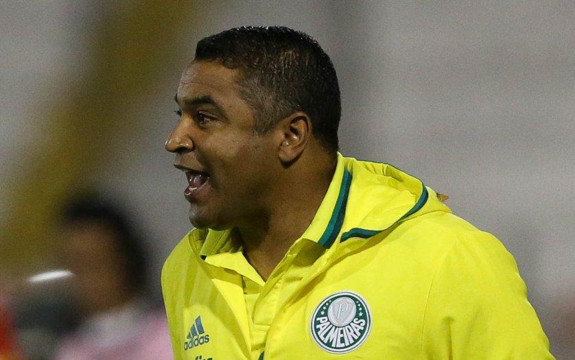 Roger Machado elogiou o desempenho do Palmeiras contra o Atlético-PR. (Cesar Greco/Ag Palmeiras/Divulgação)