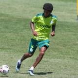 Treino: Luiz Adriano reforça a equipe nas atividades visando jogo contra o Defensa y Justicia