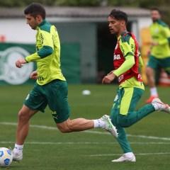 Treino: Debaixo de chuva, Palmeiras treina visando o São Paulo no fim de semana