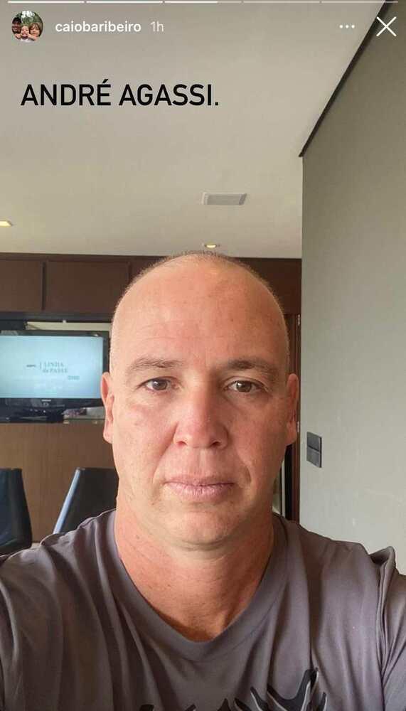 Caio Ribeiro jokes after appearing bald on social media