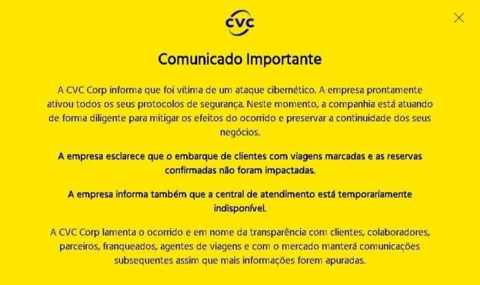 comunicado CVC
