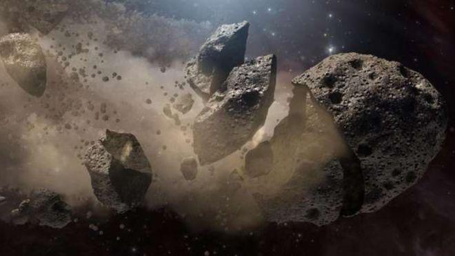 Objeto 3200 Phaeton (Imagem artística Nasa JPL-Caltech)