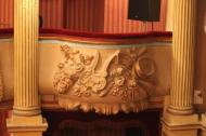 Decoration on one of the proscenium boxes