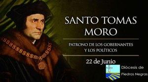 Santo Tomás Moro, patrono de los gobernantes y los políticos