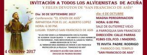 MAGNA PEREGRINACIÓN EN HONOR A SAN FRANCISCO DE ASÍS EN ACUÑA