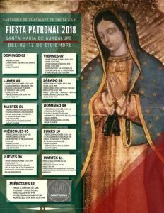 SANTUARIO DE NUESTRA SEÑORA DE GUADALUPE INVITA A SU FIESTA PATRONAL EN PIEDRAS NEGRAS