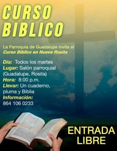 LA PARROQUIA DE GUADALUPE INVITA AL CURSO BÍBLICO EN NUEVA ROSITA