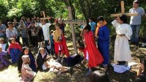 GALERÍA: SAGRADO CORAZÓN DE JESÚS LLEVA A CABO SU VIACRUCIS REPRESENTADO POR NIÑOS