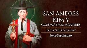 Hoy se celebra a San Andrés Kim y compañeros mártires en Corea
