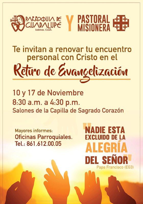 RETIRO DE EVANGELIZACIÓN EN SABINAS
