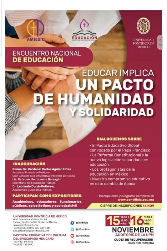 ENCUENTRO NACIONAL DE EDUCACIÓN EN CDMX