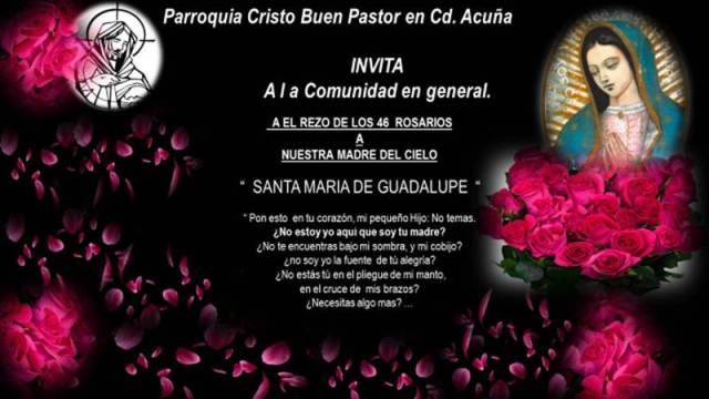 CRISTO BUEN PASTOR INVITA A LOS 46 ROSARIOS EN ACUÑA